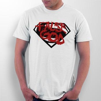 camiseta batman v superman - false god - super heróis