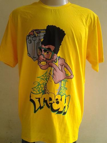 camiseta bboy  boom box - fresh - hip hop old school