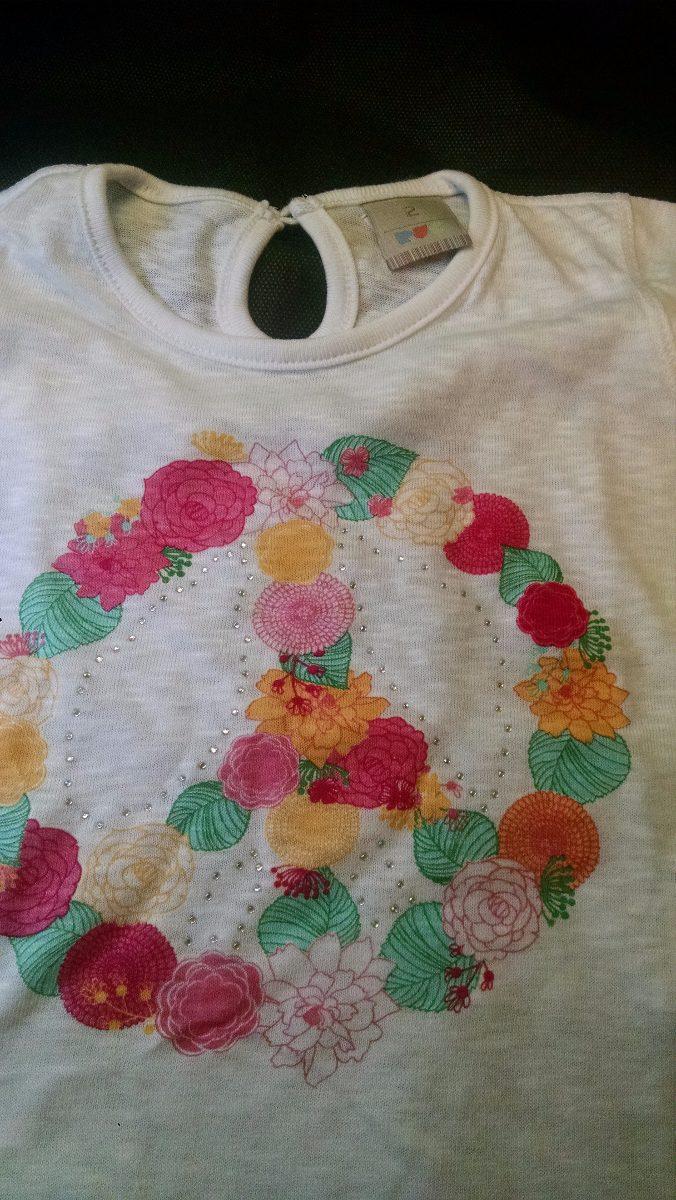 Camiseta Bebê Menina Puc Branca Com Estampa Tamanho 2 - R  25 58e90fa309a72