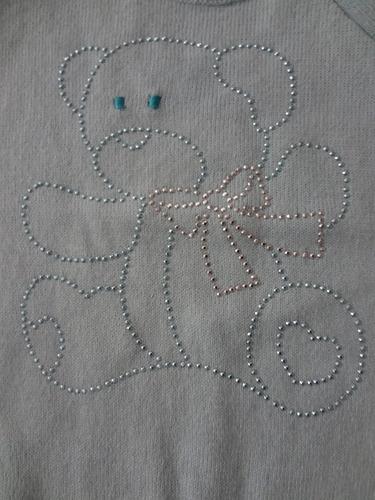 camiseta bebe ursinho c/ botões laterais! linda! confira!