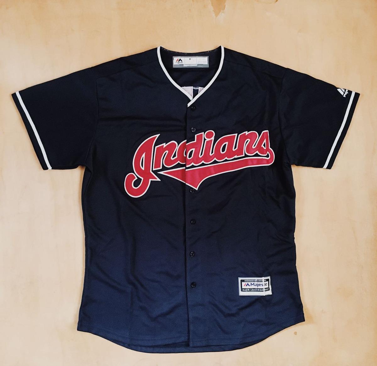 327c49bba6bce camiseta beisbol majestic indians mlb. Cargando zoom.