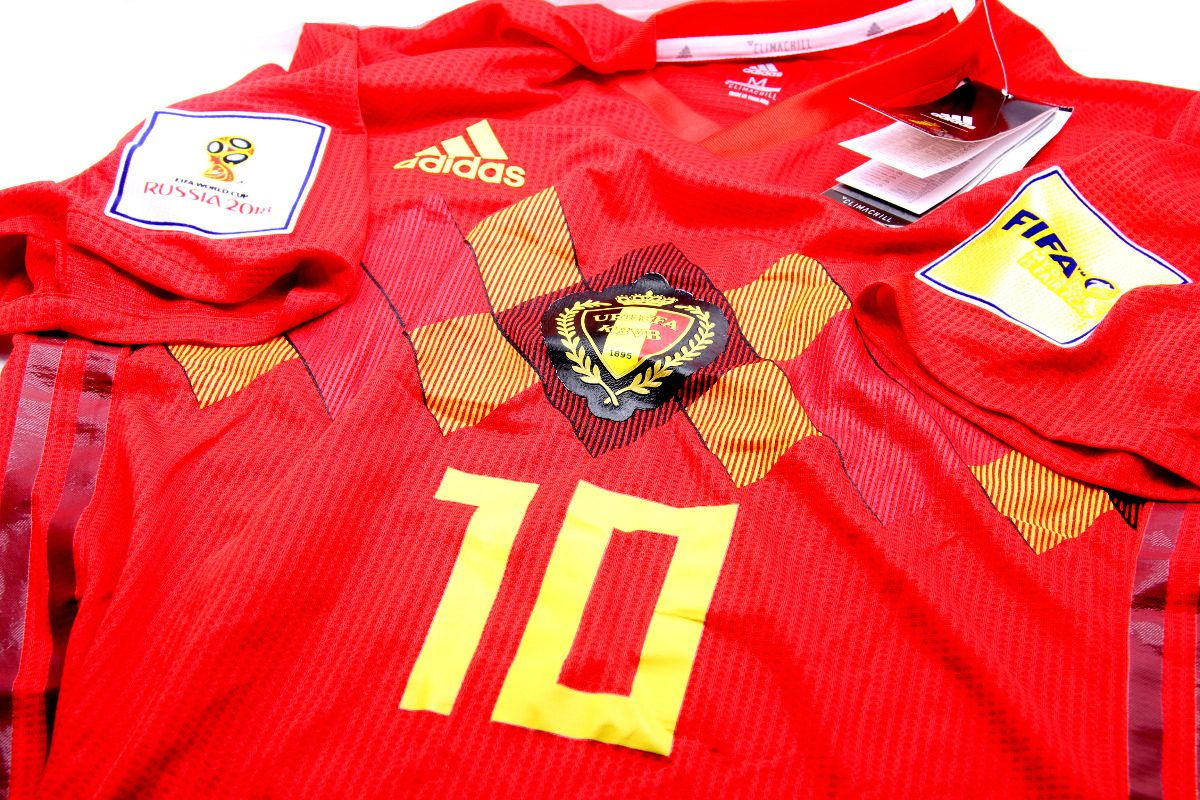 camiseta belgica  10 hazard parches rusia 2018 m adidas. Cargando zoom. 53eaeb50e764d