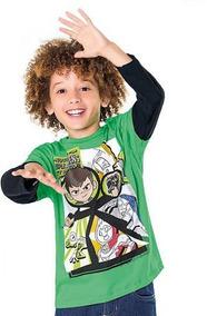 708ab41c87c8ba Camiseta Ben 10 Manga Longa Fakini 101901465 - Tam. 4 À 10