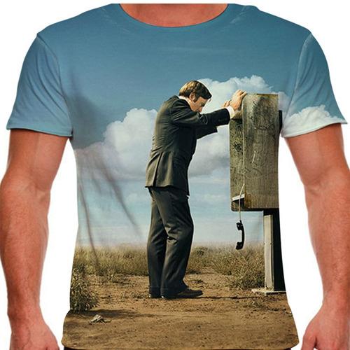 camiseta better call saul phone masculina