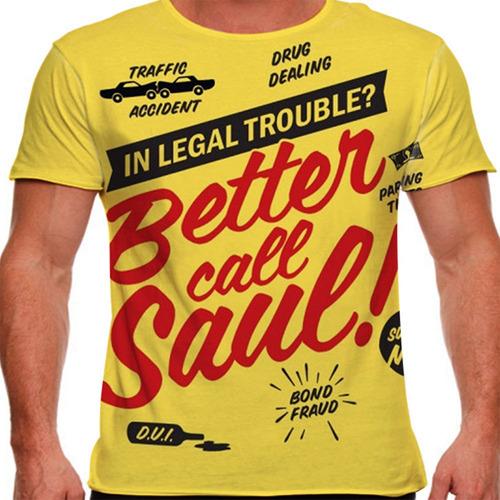 camiseta better call saul trouble masculina