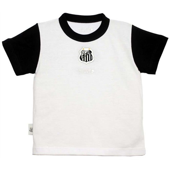 Camiseta Bicolor Meia Malha Unissex Santos Reve Dor - R  79 de10da03d642e