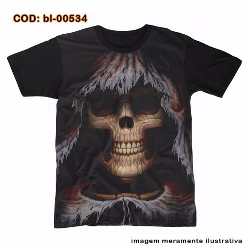 camiseta  big face morte skull