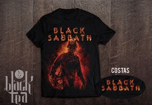 7f2af9b61f Camiseta Black Sabbath 13 - Black Tea - R  42