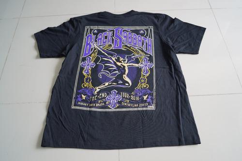 camiseta black sabbath rock activity importada talla m
