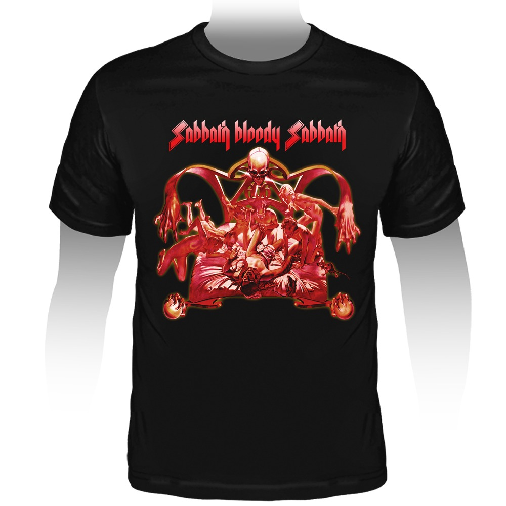 94d7809f2e camiseta black sabbath - sabbath bloody sabbath. Carregando zoom.