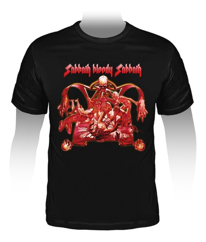 camiseta black sabbath - sabbath bloody sabbath.