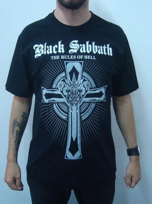 camiseta black sabbath - the rules of hell. Carregando zoom. b6f8efa0163fd