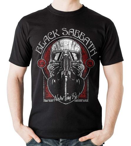 camiseta black sabbath tour 78 mascara mask rock activity