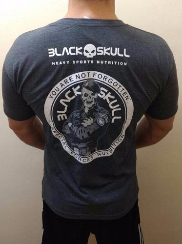 camiseta black sckull fitness academia promoção