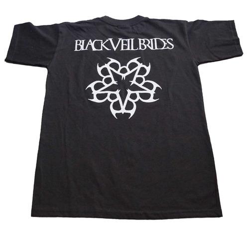 camiseta black veil brides importada rock activity talla s