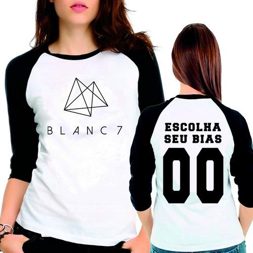 camiseta blanc7 kpop escolha seu bias raglan babylook 3/4