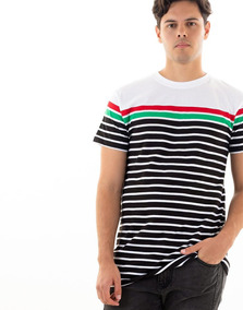 9a798057d4 Camiseta Rayas Blancas Y Negras en Mercado Libre Colombia