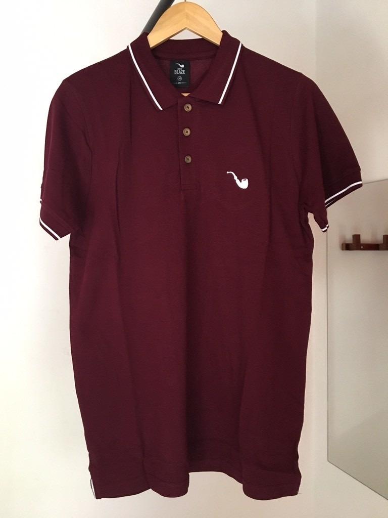 3e202e7dfd1ea camiseta blaze supply camisa polo basic bordeaux (m). Carregando zoom.
