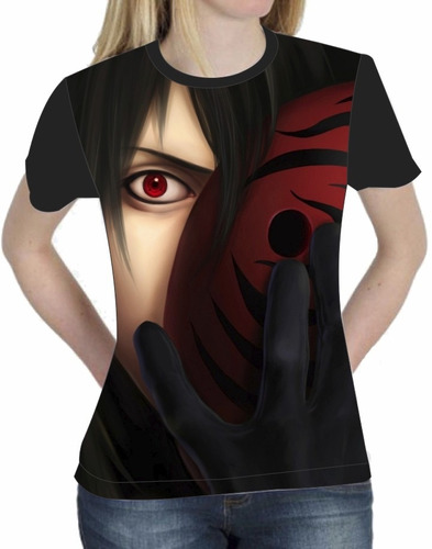 camiseta blusa baby look anime naruto itachi uchiha 004