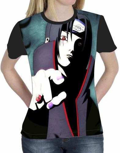 camiseta blusa baby look anime naruto itachi uchiha 009