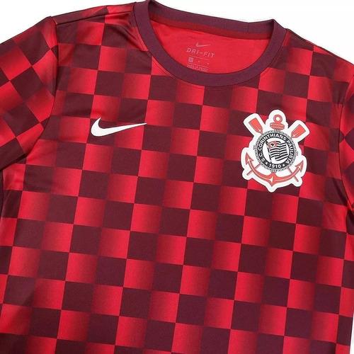 camiseta blusa corinthians pré jogo (xadrez) 2019 oficial!