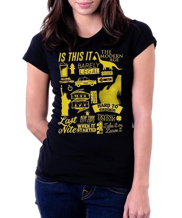 08660594db Camiseta Blusa Feminina Is This It The Strokes - R  49