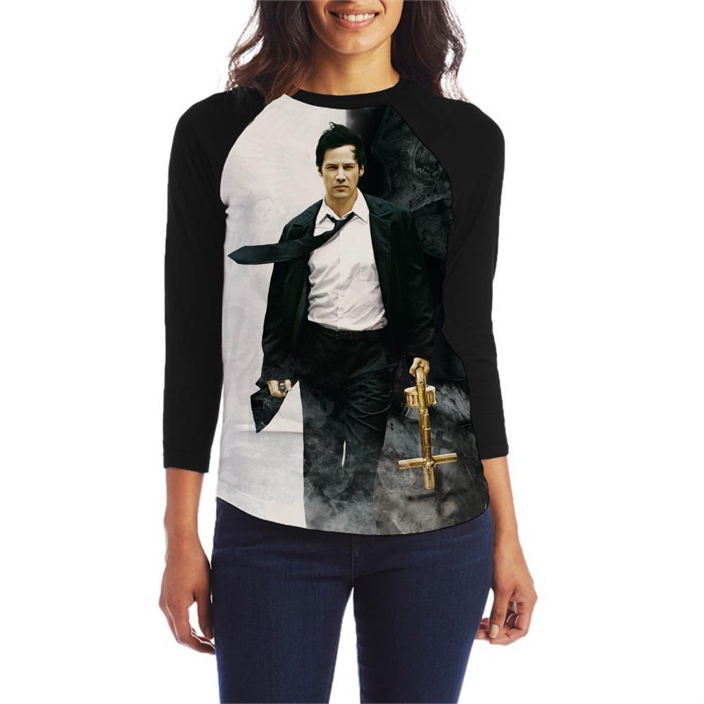 8452565ca2 Camiseta Constantine Filme Blusa Babylook Manga 3 4 Feminina - R  45 ...