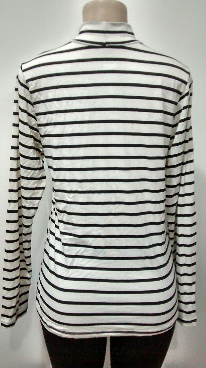 a4af27a8b Camiseta Blusa Feminina Manga Longa Listrada Malha Viscose - R  24 ...