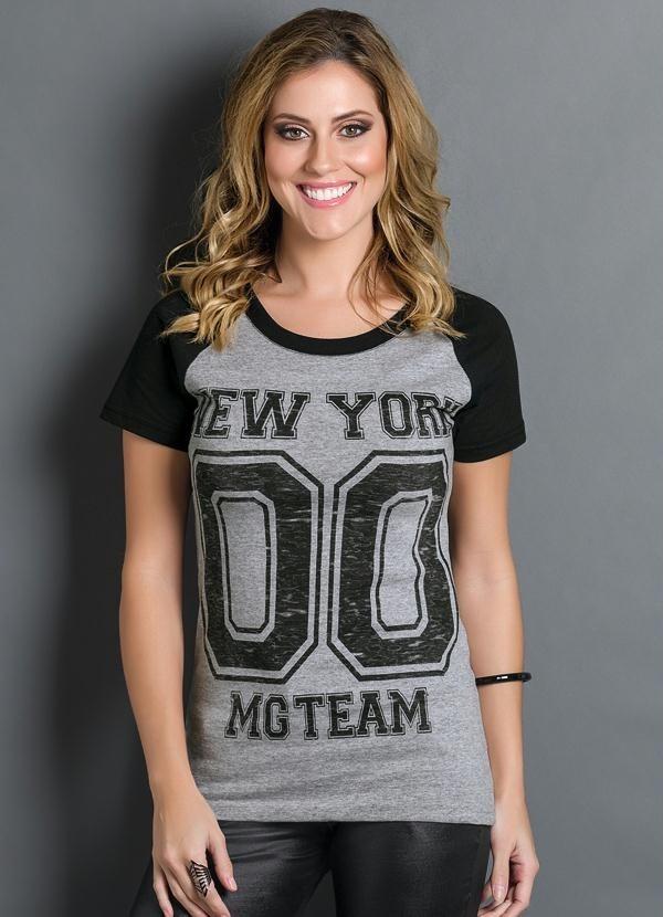 c4a18a9769 camiseta blusa t-shirt feminina estampa número manga curta. Carregando zoom.