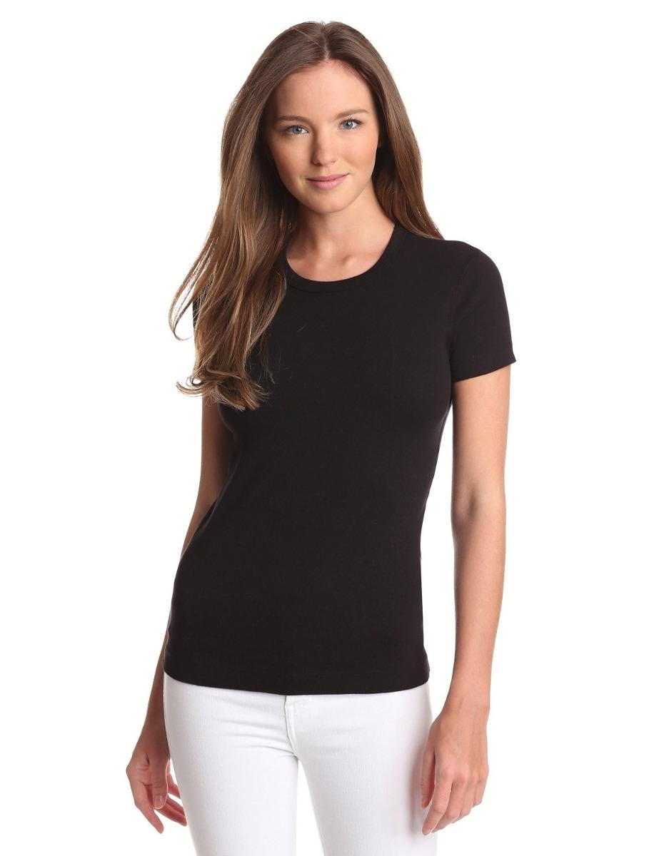 camiseta blusinha básica lisa gola redonda baby look algodão. Carregando  zoom. 93b8be8a547ac