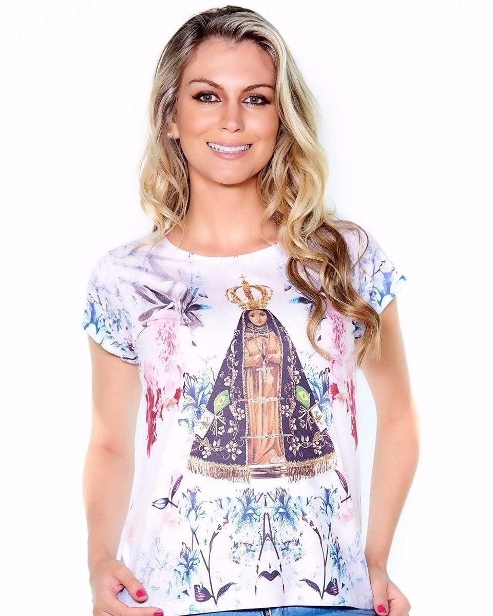 c730caa37 camiseta blusinha feminina religiosa jesus e nossa senhora! Carregando zoom.
