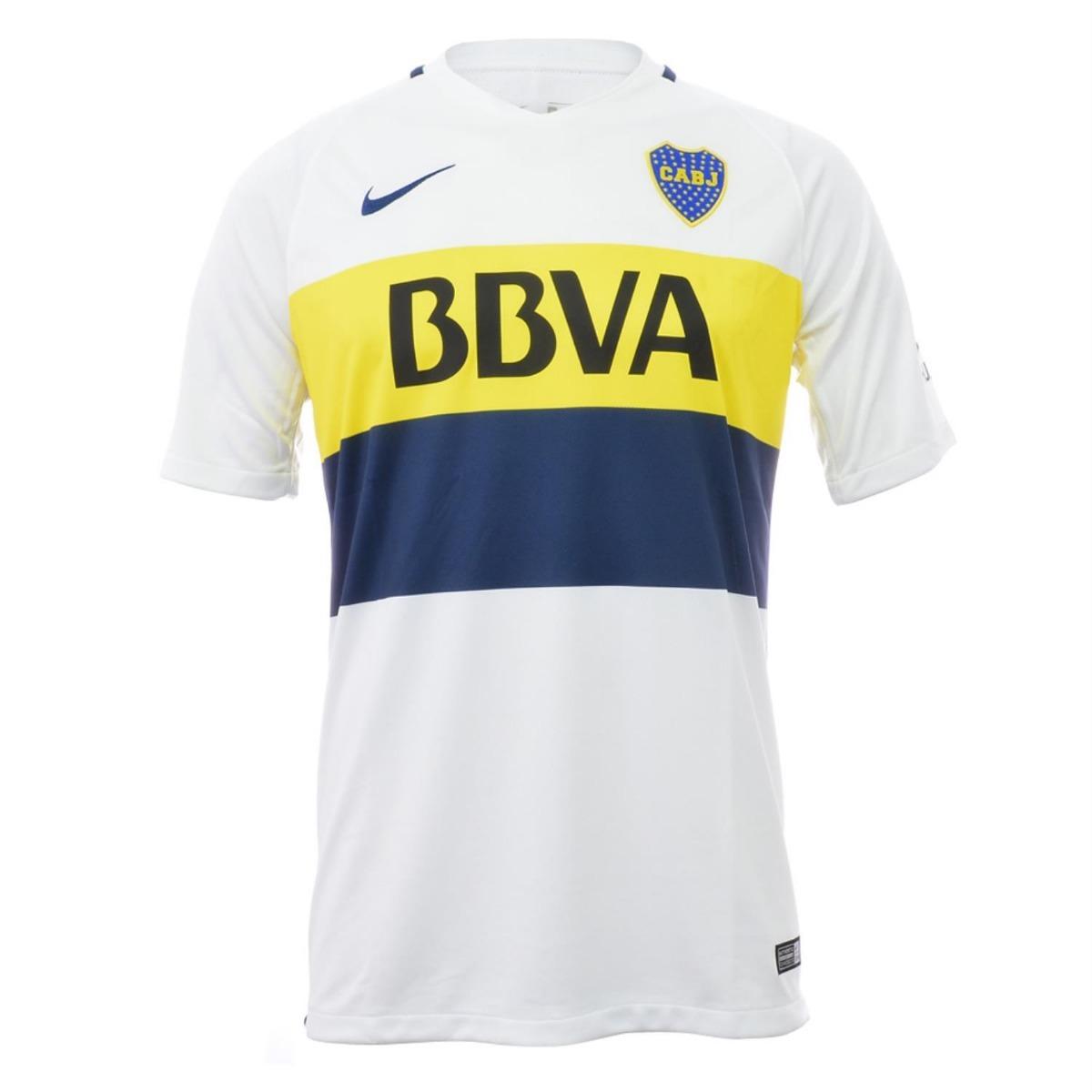 00 Suplente Boca Camiseta En Original 1 Blanca 2017 500 Nike Jr UzwwP