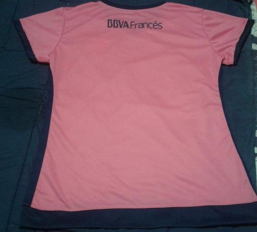 camiseta boca juniors rosa entallada p/dama todos los talles
