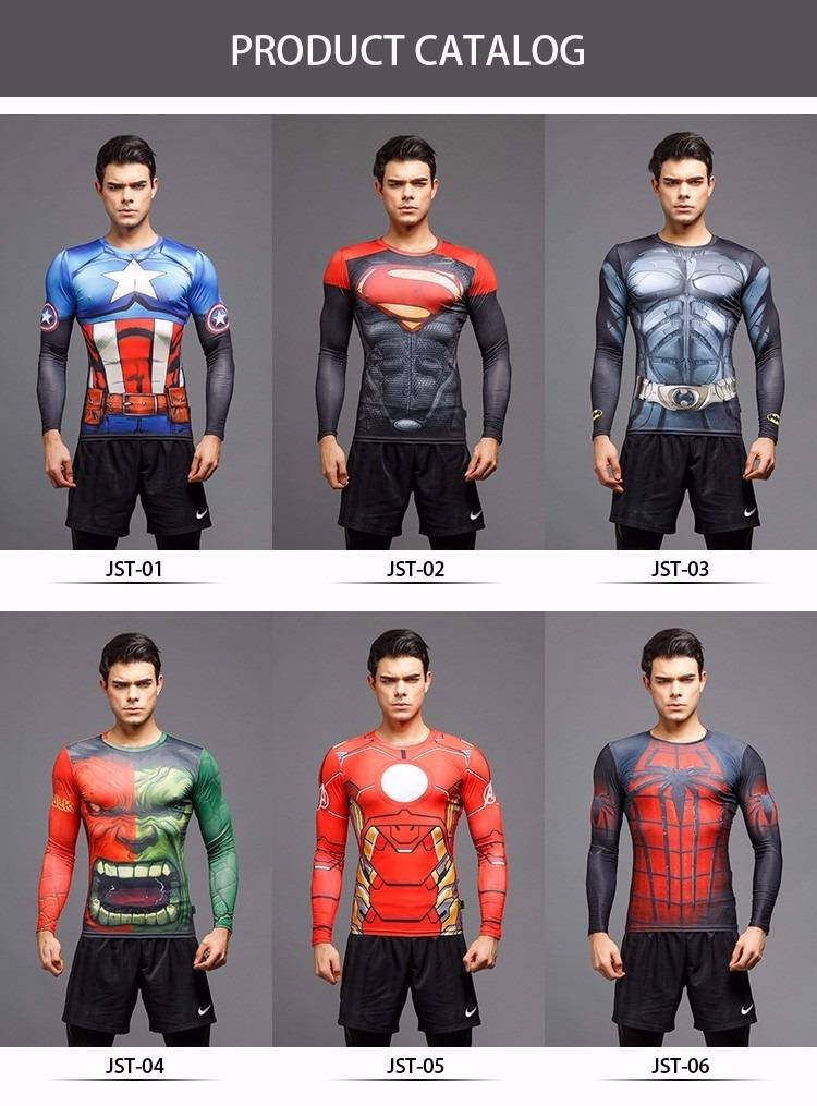 camiseta bodybuilding compressão crossfit superman fitness. Carregando zoom. e96ee90e4e7d9