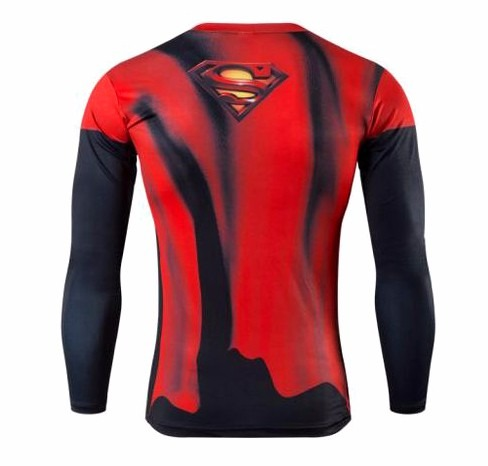 Camiseta Bodybuilding Compressão Crossfit Superman Fitness - R  129 ... f2ac2b422e7c3