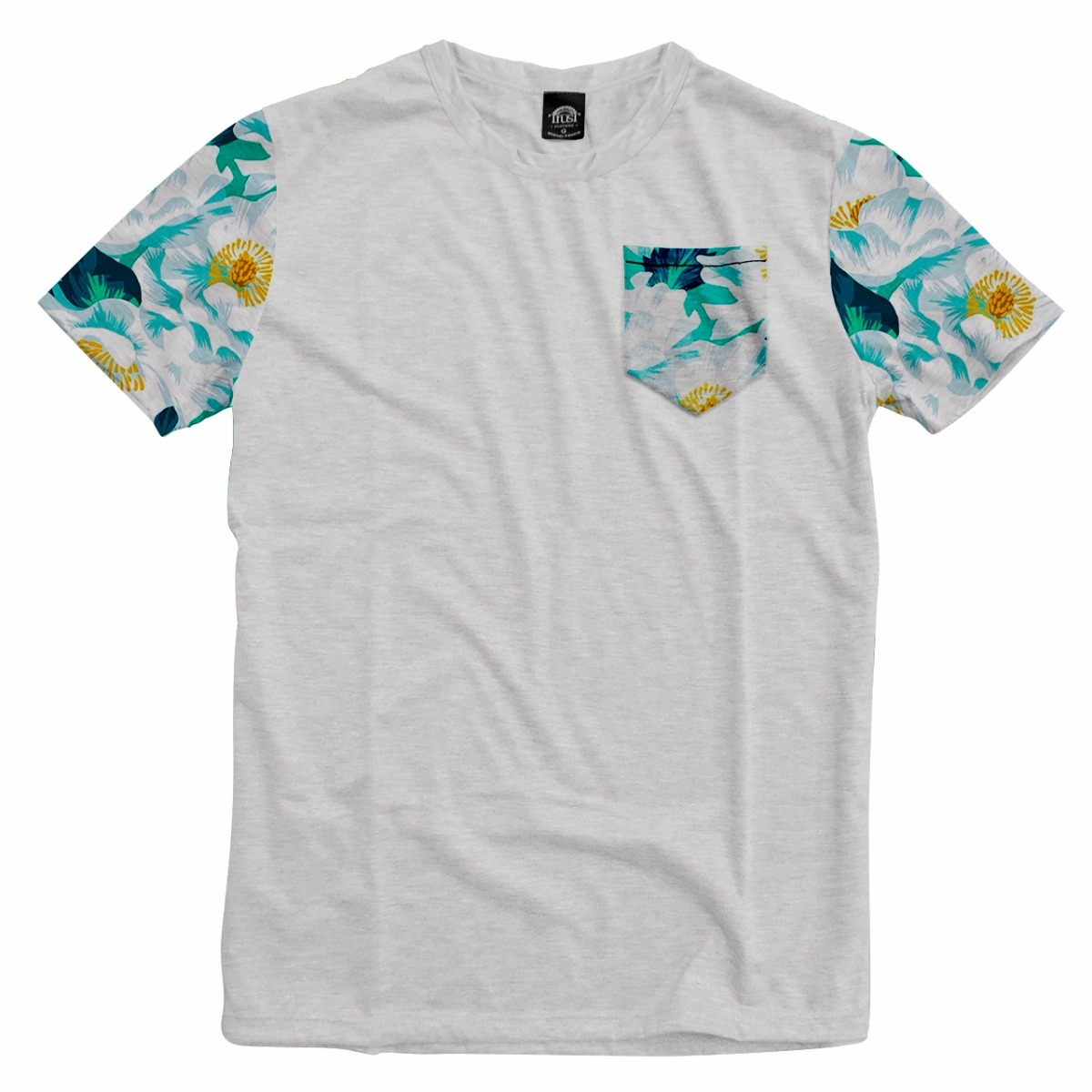 2cb1631d3 camiseta bolso swag mangas havaiana floral girassol. Carregando zoom.