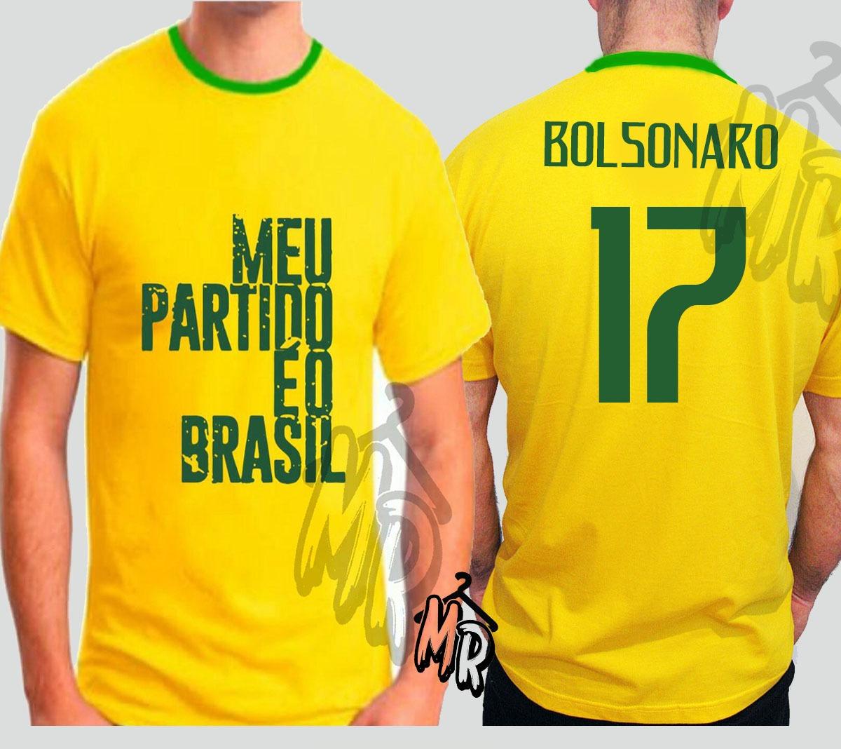 1f60727907 camiseta bolsonaro 17 meu partido é o brasil camisa amarela. Carregando zoom .