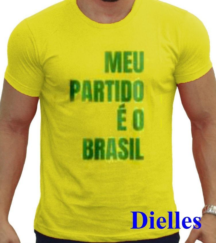 8e079a1da6 camiseta bolsonaro meu partido é o brasil camisa amarela. Carregando zoom.