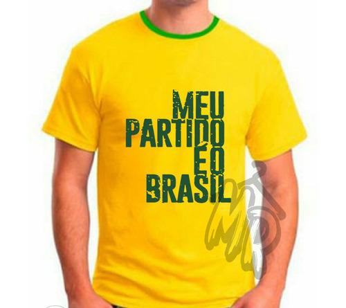 camiseta bolsonaro meu partido é o brasil camisa amarela