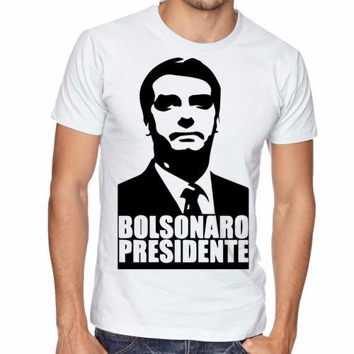 camiseta bolsonaro presidente blusas manga curta tamanho