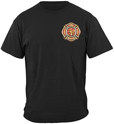 camiseta bombero classic fire maltese large black