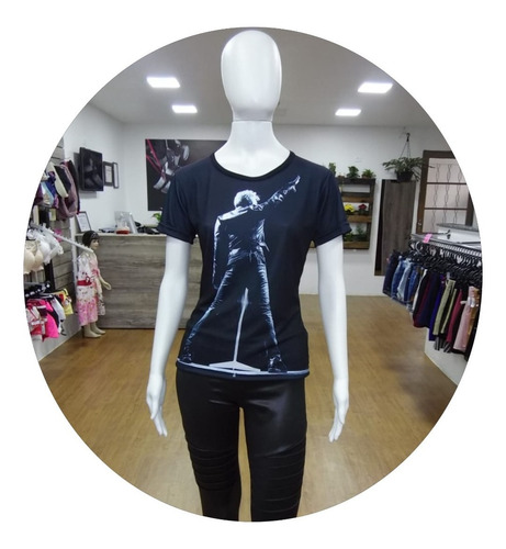 camiseta bon jovi feminina baby look roupas blusa regata