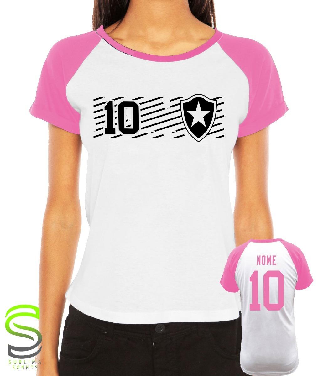 0a12848c17 camiseta botafogo feminina personalizada rosa. Carregando zoom.