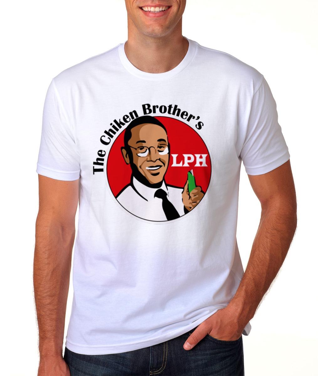 64925afa6 camiseta branca breaking bad los pollos hermanos gus fring 3. Carregando  zoom.