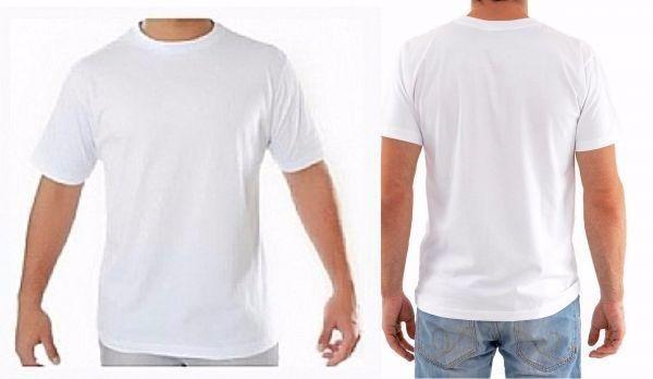 Camiseta Branca Lisa 100% Poliéster Camisa Sublimação - R  14 2cebc81f93e