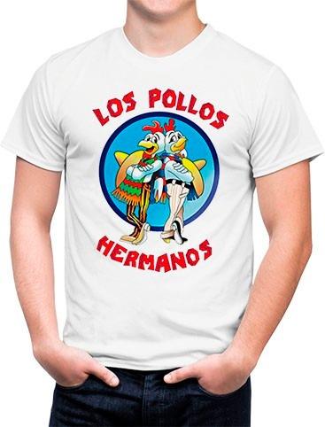 c994e642f6 Camiseta Branca Los Pollos Hermanos Breaking Bad Ii - R  34