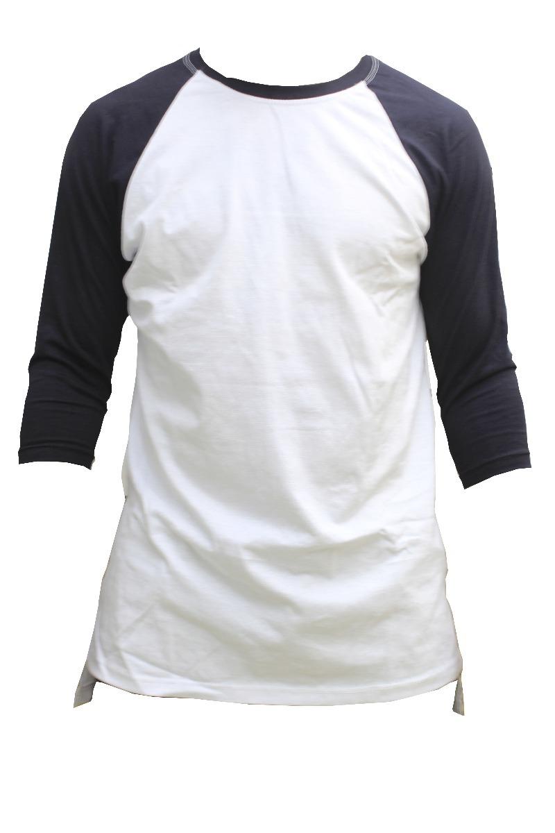 1aa3b6b44 camiseta branca manga preta. Carregando zoom.
