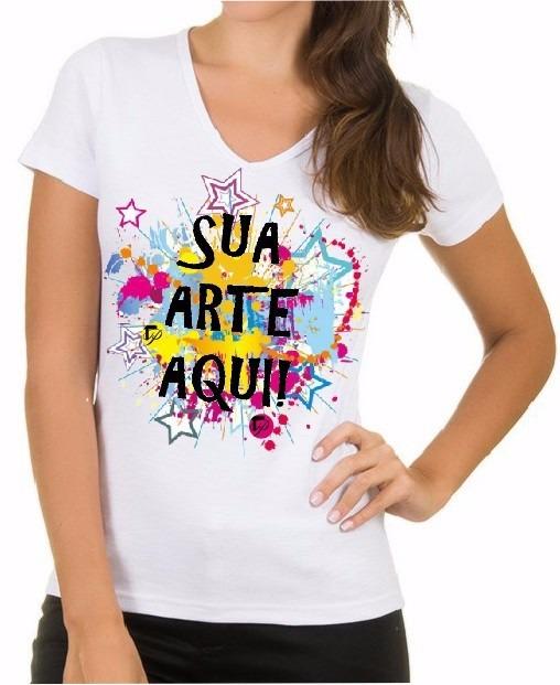 Camiseta Branca Personalizada Promocional Brindes Eventos - R  34 07456b102cb
