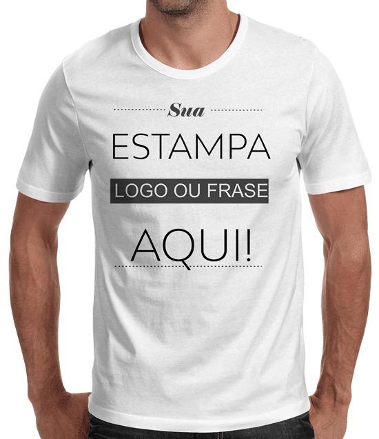 Camiseta Branca Personalizada Sua Logo - 25 Unidades - R  375 a5a3c2e3f72