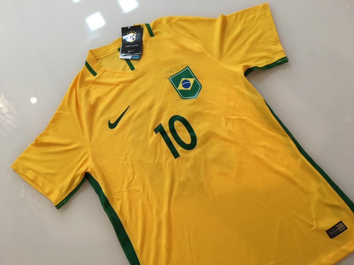 32a26c14b717e Camiseta Brasil -  10 Neymar - Final Olimpíadas 2016 - R  299